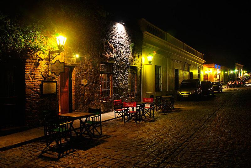 Noche en Colonia del Sacramento